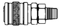 # 2402 - 1/8 in. One Way Shut-Off - Male Thread - Socket - Zinc Plated Steel - 1/4 in.