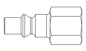 # 210-11 - 210 Series 1/4 in. - Female Thread - Plug - Steel - 1/4 in.