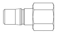 # 2L43 - 2FRL Series 3/8 in. - Female Thread - Plug - 3/8 in.