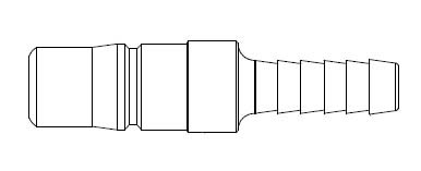 2FRL Series 3/8 in. - Hose Stem (Require Hose Clamps) - Plug