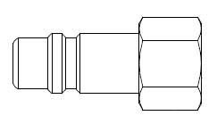 # 55-5 - 5 Series 1/2 in. - Female Thread - Plug - 1/2 in.