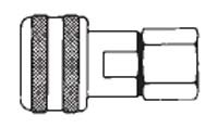 # FM4004 - 3/8 in. One Way Shut-Off - Female Thread - Automatic - Socket - 1/4 in.