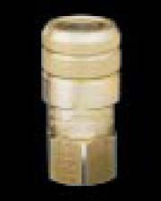 FFS06-06 - FF Series - Flush Face Hydraulic Coupler - Socket - Body Size: 3/8 in. - Thread Size: 3/8 FPT