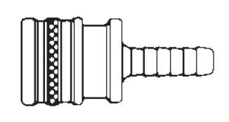 # 50HS - FST Series - Straight-Thru Type - Hose Stem - Socket - Brass - 1/2 in.