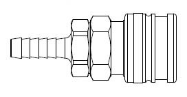 # O-3653 - O60 Series 1/4 in. - Hose Stem (Require Hose Clamps) - Manual Socket - 5/16 in.