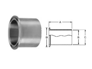 # SAN14WLMP-R400 - Tank Weld Ferrules (Light Duty) - 316L Stainless Steel - 4 in.