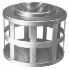 # DIXSHS40 - Standard Strainer - Square Hole Type - Zinc Plated Steel - NPSH Size: 4 in.