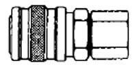 # 2803 - 1/4 in. One Way Shut-Off - Female Thread - Manual - Industrial - Socket - Zinc Plated Steel - 1/8 in.