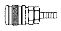 # 2032 - 1/8 in. One Way Shut-Off - Hose Stem (Requires Hose Clamps) - Socket - 3/16 in.