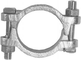# DIXDL350 - Double Bolt Clamp  - Without Saddles - 3-16/64 in. to 3-32/64 in.
