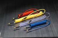 Kuriyama - Ether-Based Polyurethane Self-Store Coiled Tubing Assemblies for Air Tool Service - 1/4 in. X 50 ft. - OD: 0.375 in.