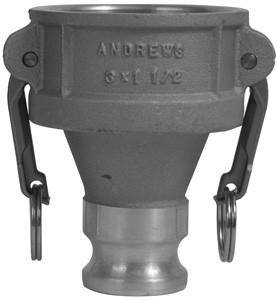# DIX3020-DA-AL - Reducing Couplers x Adapters - Aluminum - 3 in. x 2 in.