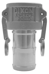 # DIX300-C-ALH - Type C Couplers female coupler x hose shank - Aluminum Hard Coat - 3 in.