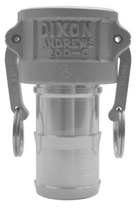 # DIX600-C-ALH - Type C Couplers female coupler x hose shank - Aluminum Hard Coat - 6 in.