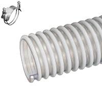 Kuriyama - WBS Anti-Static PVC Food Grade Material Handling Hose - 4 in. X 100 ft. - OD: 4.76 in.