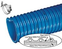 Kuriyama - Ureflex-2 Polyurethane-Lined Abrasion-Resistant PVC Material Handling Hose - 5 in. X 50 ft. - OD: 5.81 in.