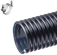 Kuriyama - UBK Polyurethane-Lined Abrasion-Resistant PVC Material Handling Hose - 5 in. X 100 ft. - OD: 5.69 in.