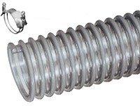 Kuriyama - WH Medium Duty PVC Suction, Blower and Ducting Hose - 1 in. X 100 ft. - OD: 1.22 in.
