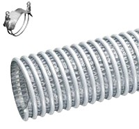 Kuriyama - WSTF Heavy Duty PVC Food Grade Suction/Discharge Hose - 5 in. X 20 ft. - OD: 151.9 in.