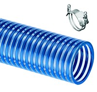 Kuriyama -  BW Blue Water Multi-Purpose Low Temperature Suction and Transfer Hose - 5 in. X 100 ft. - OD: 5.57 in.