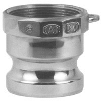 # DIX125-A-AL - Boss-Lock Type A Adapters male adapter x female NPT - Aluminum - 1-1/4 in.