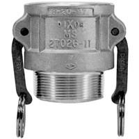 # DIX400-B-ALH - Dixon Type B Couplers female coupler x male NPT - Aluminum Hard Coat - 4 in.