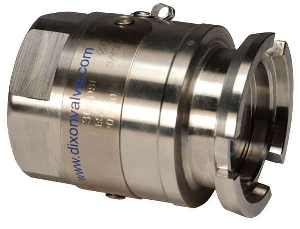 Mann Tek Dry Disconnect Adapter Tank Unit x Female NPT, 316 Stainless Steel, FKM (FPM) seal
