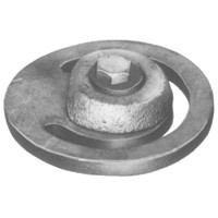 # DIXFVFA35 - Cast Iron Threaded Foot Valves - Flapper Assembly - Carbon Steel - 3 in.