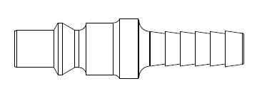 210 Series 1/4 in. - Hose Stem (Require Hose Clamps) - Plug