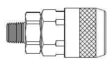 # 210-3303 - 210 Series 1/4 in. - Male Thread - Automatic Socket - Brass Body / Steel Sleeve - 3/8 in.