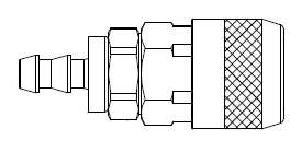 # 210-1713 - 210 Series 1/4 in. - Push-On Hose Stem - Automatic Socket - Brass Body / Steel Sleeve - 3/8 in.