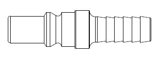 # 310-48 - 310 Series 3/8 in. - Hose Stem (Require Hose Clamps) - Plug - 3/8 in.