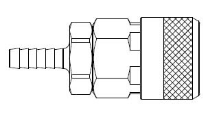 # 310-4604 - 310 Series 3/8 in. - Hose Stem (Require Hose Clamps) - Automatic Socket - 1/4 in.