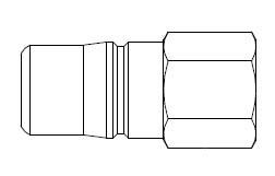 # 3L51 - 3FRL Series 1/2 in. - Female Thread - Plug - 1/4 in.