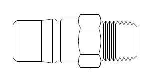 # 3L52 - 3FRL Series 1/2 in. - Male Thread - Plug - 3/8 in.