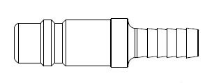 # 60-5 - 5 Series 1/2 in. - Hose Stem (Require Hose Clamps) - Plug - Steel - 1/2 in.