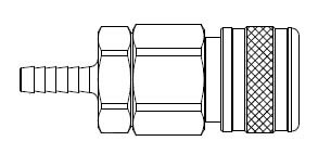 5 Series 1/2 in. - Hose Stem (Require Hose Clamps) - Manual Socket