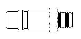 # 56-5 - 5 Series 1/2 in. - Male Thread - Plug - Steel - 3/4 in.