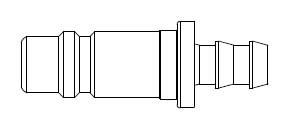 # 81-5 - 5 Series 1/2 in. - Push-On Hose Stem - Plug - Steel - 1/2 in.