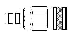 # 1815 - 5 Series 1/2 in. - Push-On Hose Stem - Manual Socket - 1/2 in.