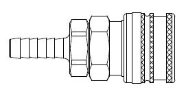# A-3653 - A70 Series 1/4 in. - Hose Stem (Require Hose Clamps) - Manual Socket - 5/16 in.