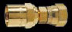 5D13-S - Reusable - Female Swivel Fitting - ID x OD: 3/8 in. x 13/16 in. - Size: No. 5 Nut - 1/4-18 NPS