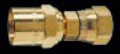 8D11-S - Reusable - Female Swivel Fitting - ID x OD: 3/8 in. x 3/4 in. - Size: No. 8 Nut - 3/8-18 NPS