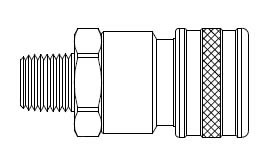 FH Series - Two Way Valved - Male Thread - Socket