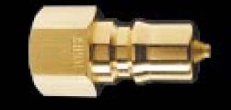 K2B - FHK Series - Two Way Shut-Off - Plug - Brass - Body Size: 1/4 in. - Thread Size: 1/4 FPT