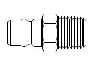 FIH & FH Series Unvalved - Male Thread - Plug
