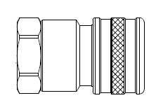 FIH Series - One Way Valved - Female Thread - Socket
