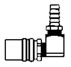 FS318VP - 3/8 in. - FJT Series - One Way (Valved) - Push-On Stem - Socket - 90 Degree Hose Stem - 1/2 in.