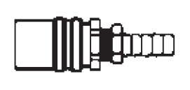 FS306V - 3/8 in. - FJT Series - One Way (Valved) - Hose Stem - Socket - Straight Hose Stem - 3/8 in.