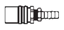 FS308V - 3/8 in. - FJT Series - One Way (Valved) - Hose Stem - Socket - Straight Hose Stem - 1/2 in.